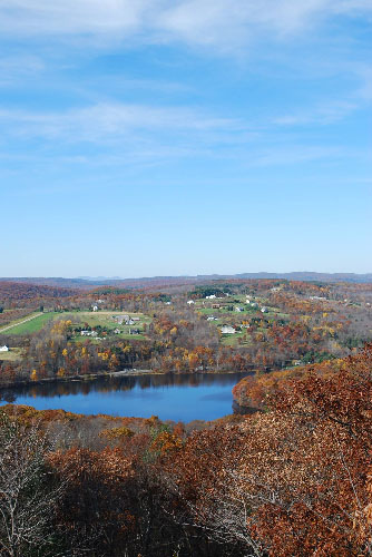 View from Mount Tom tower