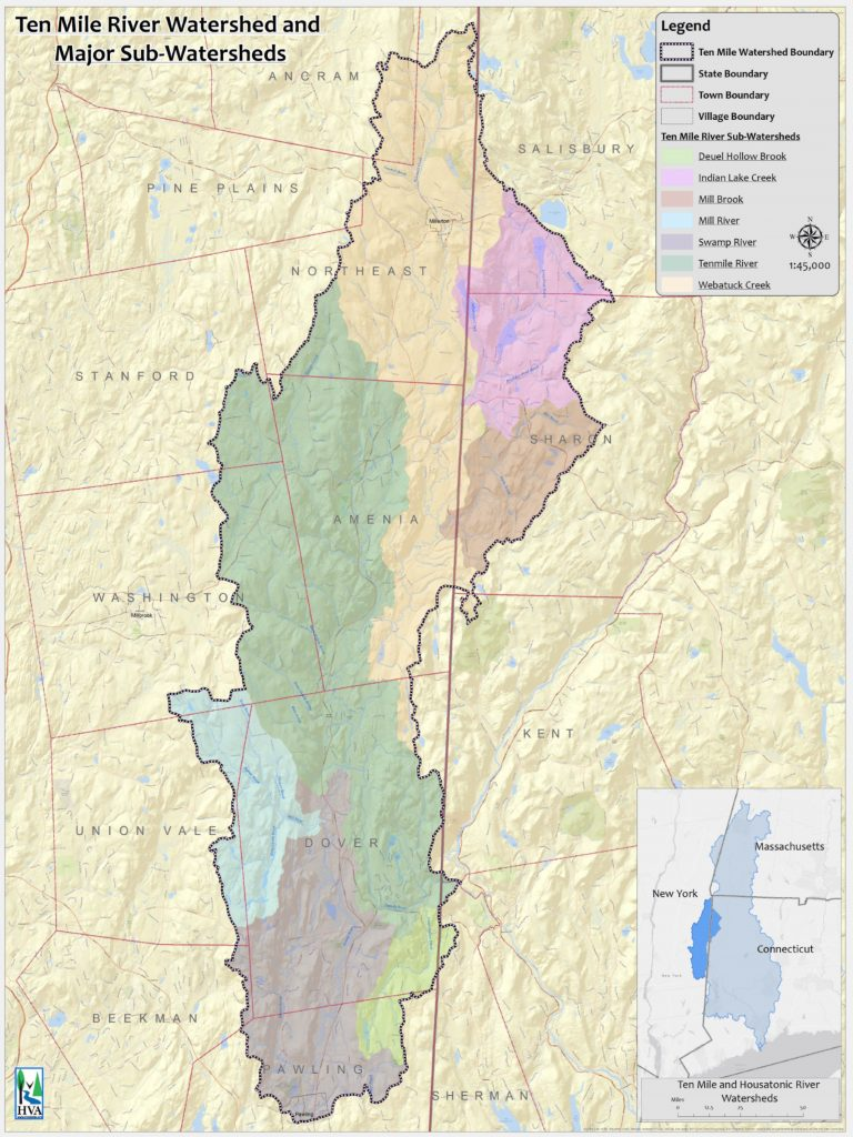 Ten Mile River Watershed with Major Subwatersheds